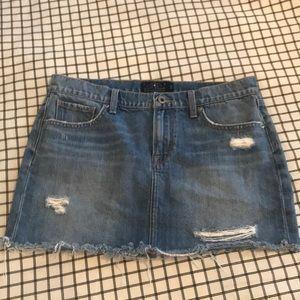 Lucky Brand Distressed Denim Skirt